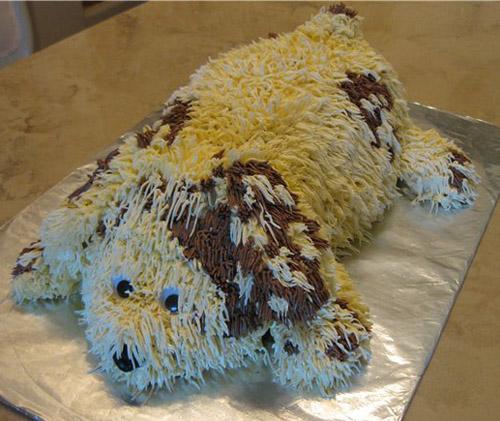 торт собачка