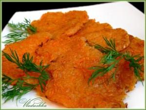 драники с морковью
