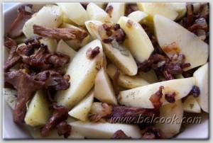 картошка тушеная с грибами