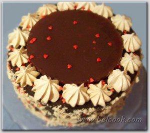 Медовый торт с безе
