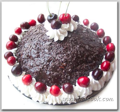 Рецепт торта Бисквитно-кремовый Горка