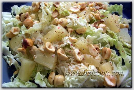 Легкий салат с ананасом рецепт