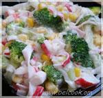 Салат из брокколи и крабовых палочек