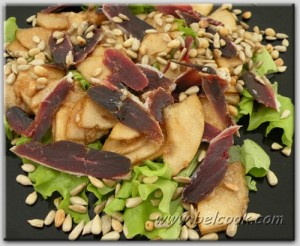 салат из копченой утки