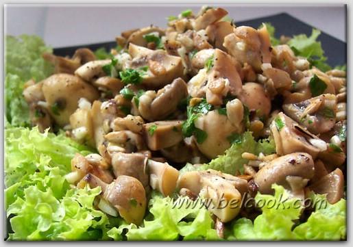 салат с шампиньонами без майонеза