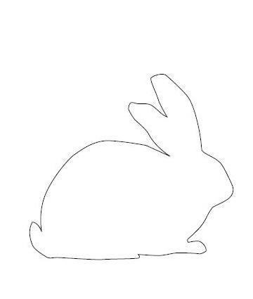 шаблон кролика 2