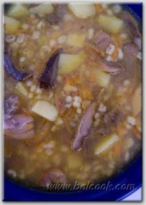 суп со свежими грибами