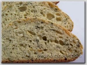укропный хлеб на закваске разрез
