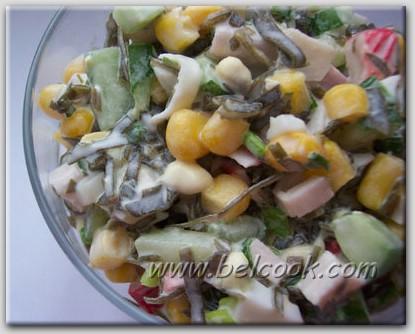 Салат морской с сухариками