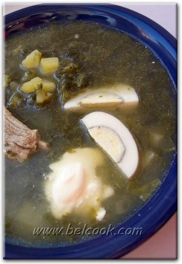 щавелевый суп со щавля