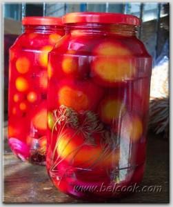 томаты в розовом рассоле