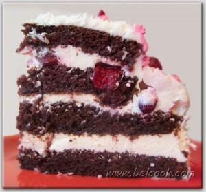 вишневый торт разрез