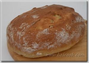 хлеб с домашним сыром